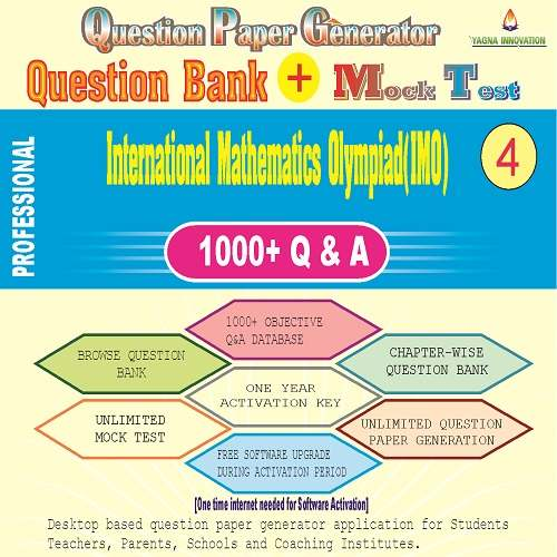IMO (Class-4) Question Bank + Mock Test + Question Paper Generator