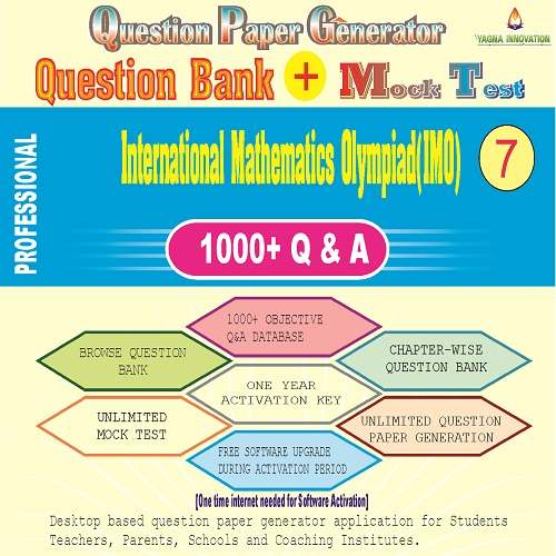 IMO (Class-7) Question Bank + Mock Test + Question Paper Generator