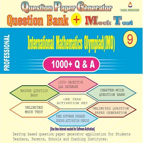 IMO (Class-9) Question Bank + Mock Test + Question Paper Generator