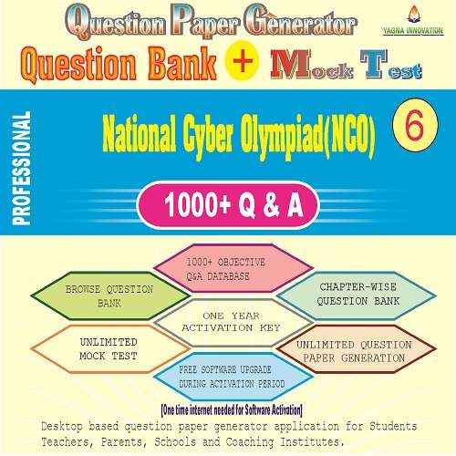 NCO (Class-6) Question Bank + Mock Test + Question Paper Generator