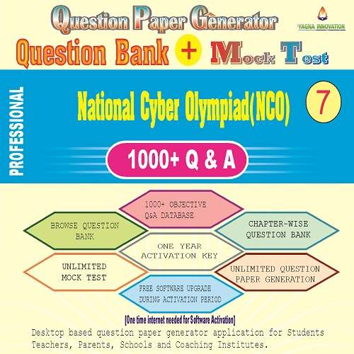 NCO (Class-7) Question Bank + Mock Test + Question Paper Generator
