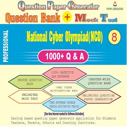 NCO (Class-8) Question Bank + Mock Test + Question Paper Generator