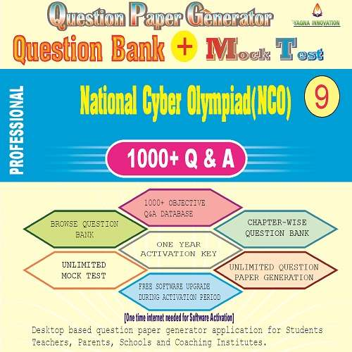 NCO (Class-9) Question Bank + Mock Test + Question Paper Generator