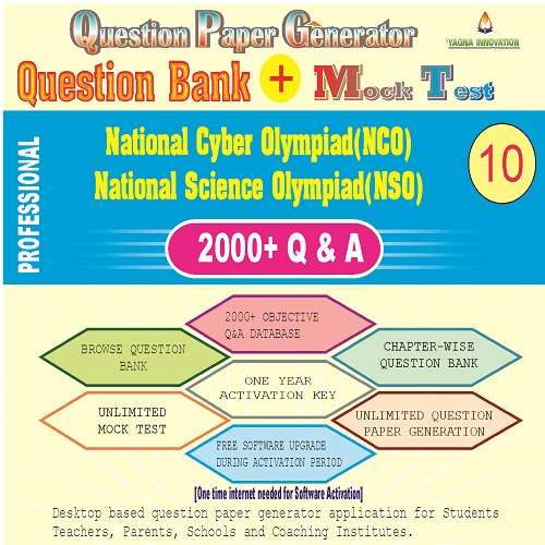 NCO/NSO (Class-10) Question Bank + Mock Test + Question Paper Generator