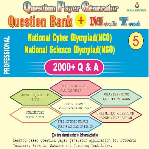 NCO/NSO (Class-5) Question Bank + Mock Test + Question Paper Generator