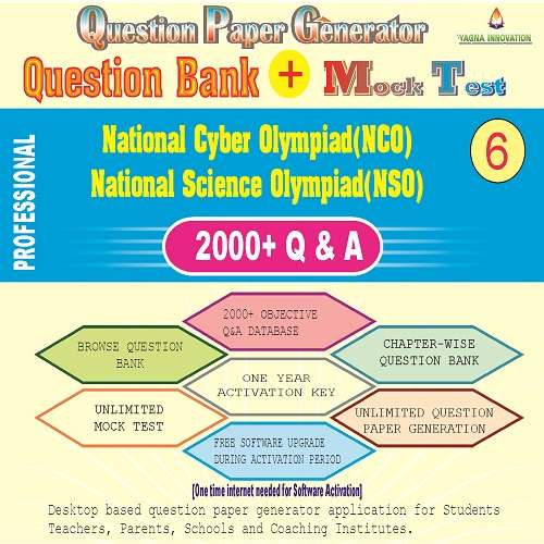 NCO/NSO (Class-6) Question Bank + Mock Test + Question Paper Generator