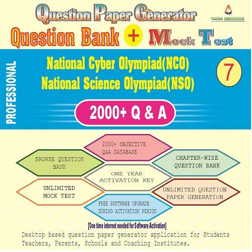NCO/NSO (Class-7) Question Bank + Mock Test + Question Paper Generator