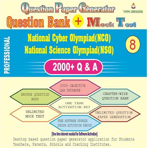 NCO/NSO (Class-8) Question Bank + Mock Test + Question Paper Generator
