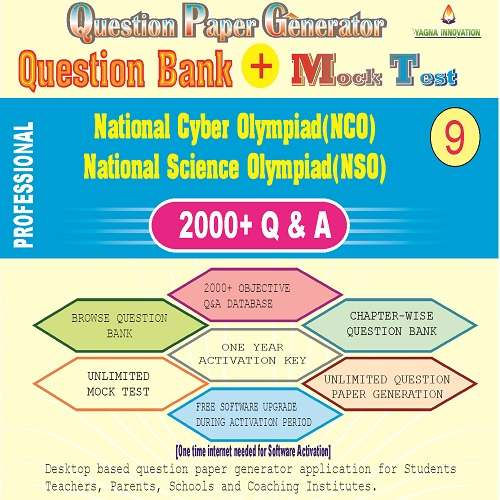NCO/NSO (Class-9) Question Bank + Mock Test + Question Paper Generator