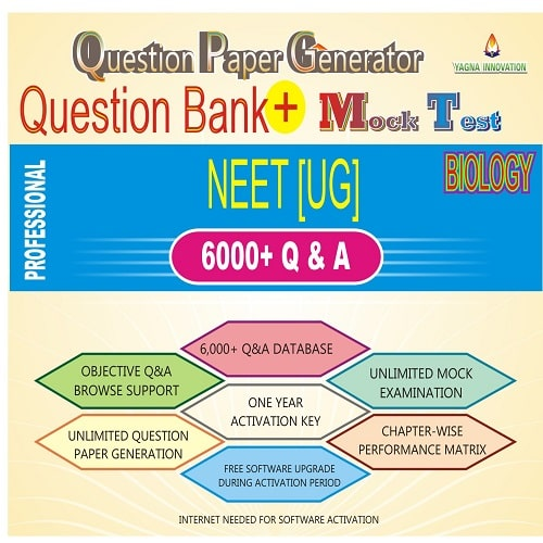 NEET Biology Question Bank + Mock Test + Question Paper Generator