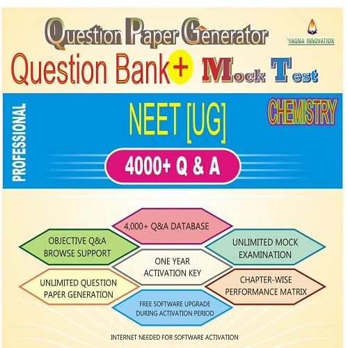 NEET Chemistry Question Bank + Mock Test + Question Paper Generator
