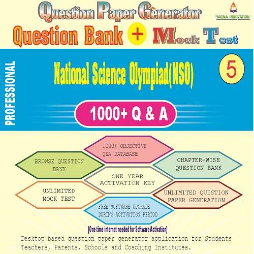 NSO (Class-5) Question Bank + Mock Test + Question Paper Generator