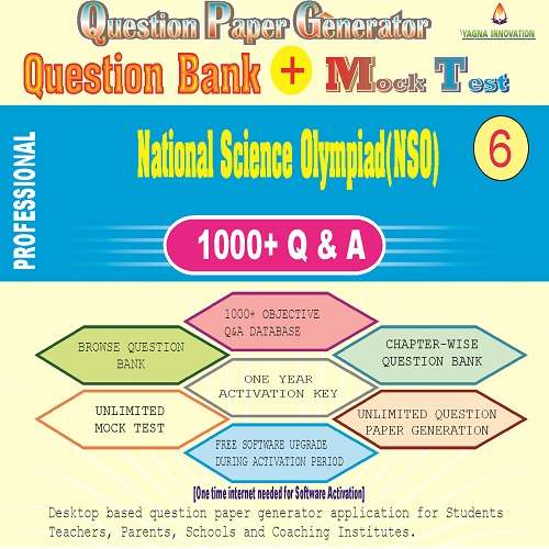 NSO (Class-6) Question Bank + Mock Test + Question Paper Generator