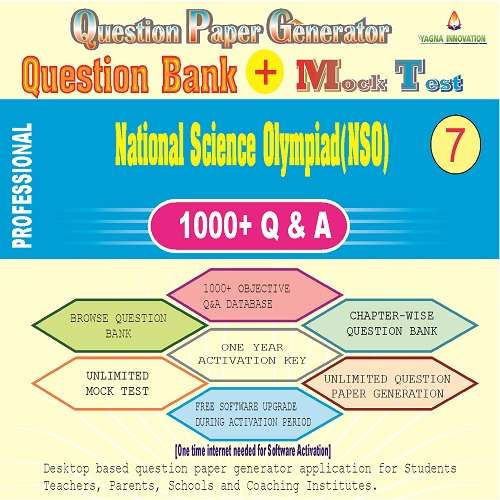 NSO (Class-7) Question Bank + Mock Test + Question Paper Generator