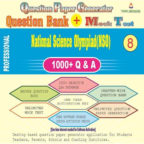 NSO (Class-8) Question Bank + Mock Test + Question Paper Generator