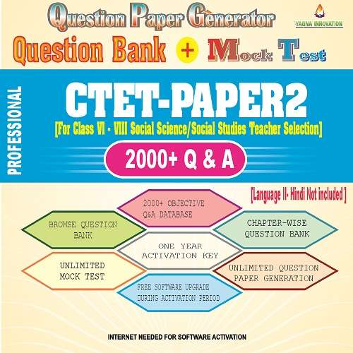 CTET Paper2 [Social Studies] Question Bank + Mock Test + Question Paper Generato