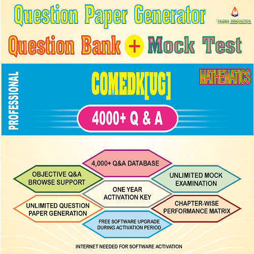 COMEDK(UG) Mathmatics Question Bank + Mock Test + Question Paper Generator