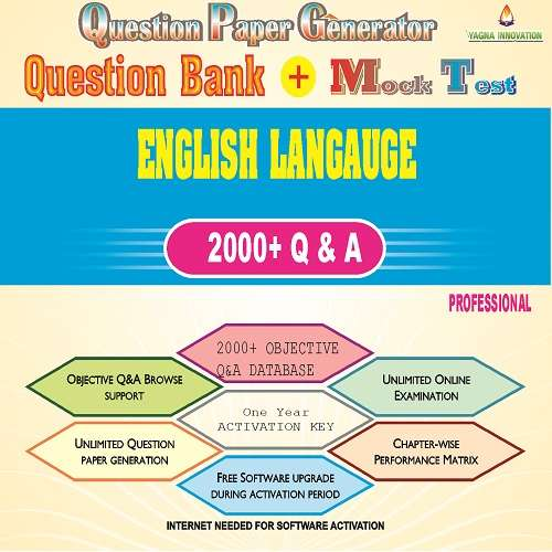 English Langauge Question Bank + Mock Test + Question Paper Generator