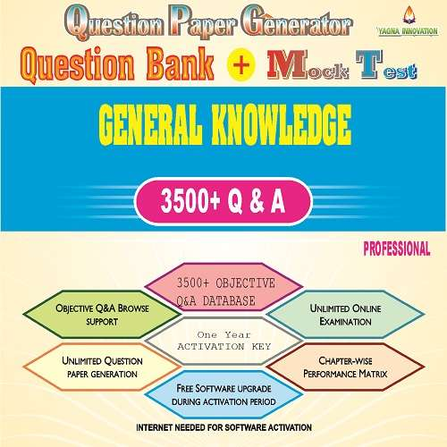 General Knowledge Question Bank + Mock Test + Question Paper Generator