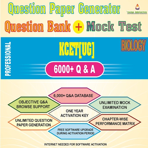 KCET/COMEDK Biology Question Bank + Mock Test + Question Paper Generator