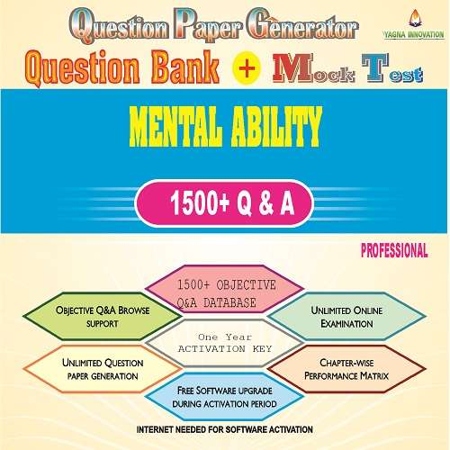 Basic Mental Ability Question Bank + Mock Test + Question Paper Generator