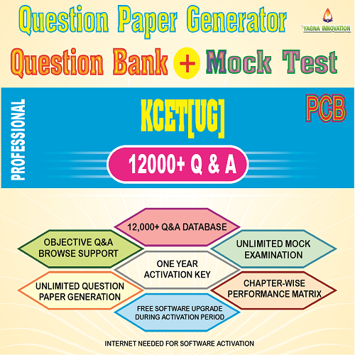 KCET/COMEDK PCB Question Bank + Mock Test + Question Paper Generator