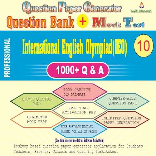 IEO (Class-10) Question Bank + Mock Test + Question Paper Generator