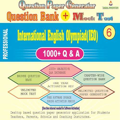 IEO (Class-6) Question Bank + Mock Test + Question Paper Generator