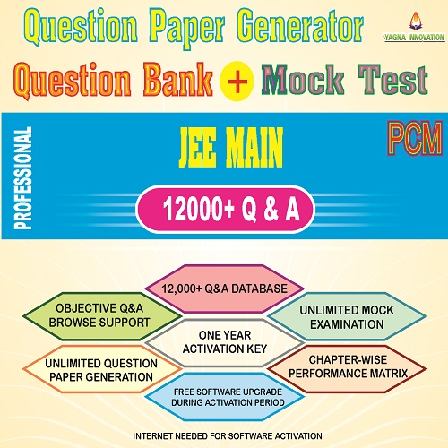 JEE Main PCM Question Bank + Mock Test + Question Paper Generator
